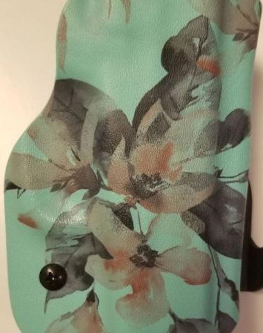 Teal Watercolor Flowers